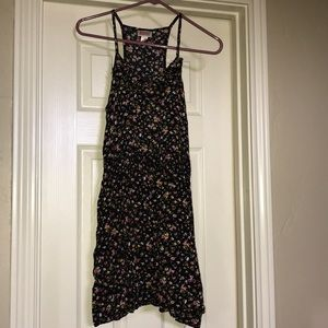 Black floral casual day dress